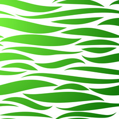 Geometric seamless pattern. Cute abstract pattern with geometric elements for textiles, packaging, Wallpaper, covers. Green waves on a white background.