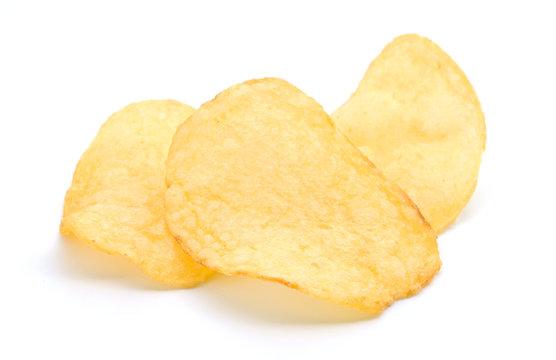 Chips potato isolated on white background