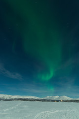 Northern lights in swedish lapland - Abisko , Sweden