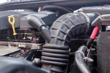 Papiers peints Rouge, noir, blanc car engine