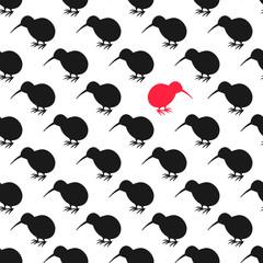 Kiwi bird seamless pattern