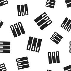 Database, server seamless pattern background. Business flat vector illustration. Storage sign symbol pattern.
