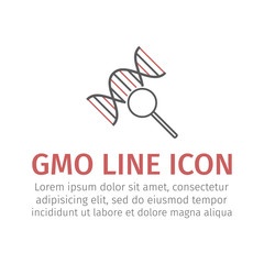 Gmo line icon.. Vector sign.
