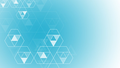 The background of the triangle. For the cover, brochure, flyer, poster, magazine. Vector design.