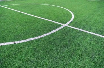 Soccer field with textured grass