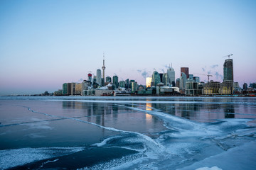 Wall Murals Toronto Toronto Skyline in Winter