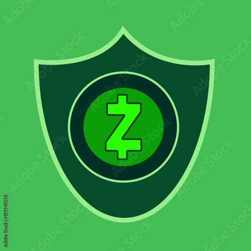 Zcash Concept Cryptocurrency Icon Vector Design