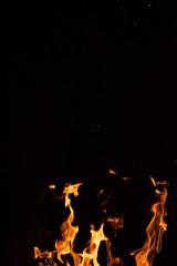 fire spark fire black background
