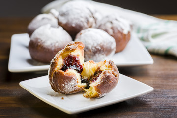 Homemade donuts - the most delicious with marmalade