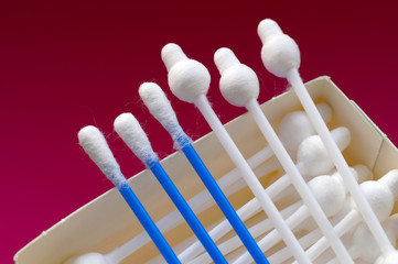 Cotton swabs for makeup, cosmetic, accessories ear cleaning, cotton swab stick buds medical use