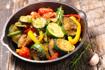 Wall Mural - grilled vegetable and herbs, ratatouille