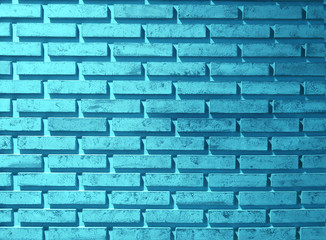 Blue square brick block wall background and texture.