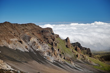 The valley of the asleep volcanoes in the Halekala National Park (Maui, Hawaii, USA)