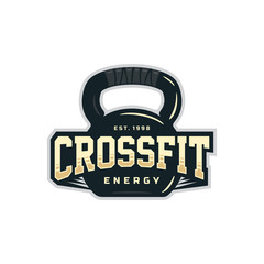 Modern vector professional logo emblem for crossfit
