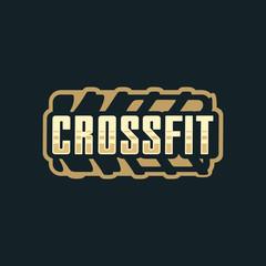 Modern vector professional logo emblem for crossfit