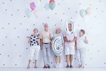 Seniors celebrating birthday