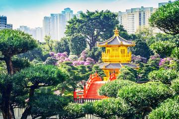 Nan Lian Garden. It is a Chinese Classical Garden in Diamond Hill, Kowloon, Hong Kong. Fotomurales