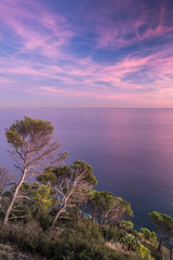 Fotomurales - Coast landscape sunset of Costa Brava, Spain.