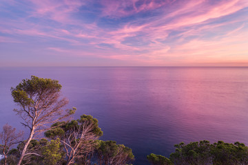 Wall Mural - Coast landscape sunset of Costa Brava, Spain.