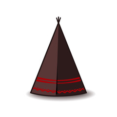 Wigwam icon. Indian teepee or tipi. Vector