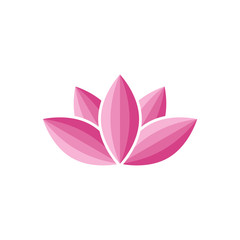 Lotus flower abstract logo, water lily silhouette