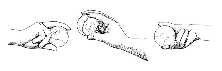 Baseball - Ball in der Hand