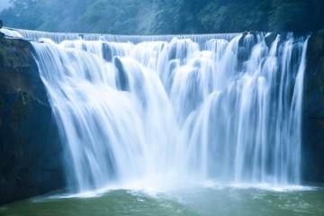 Breathtaking View of Shifen Waterfall in Pingxi District