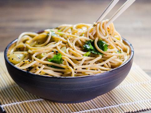 Noodle Bowl Wide Shot