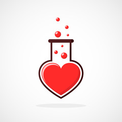 Laboratory of the Love. Vector illustration