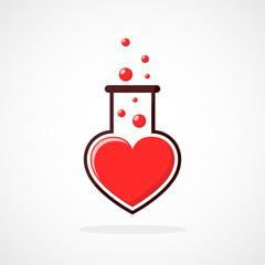 Laboratory of the Love. Vector illustration
