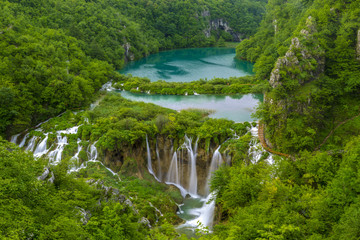 Wall Mural - Waterfalls in Plitvice National Park, Croatia