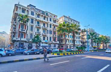 Eurpean architecture in Alexandria, Egypt