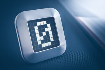 The Number 0 On A Digital Calendar, Thermostat Or Timer