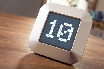 The Number 10 On A Digital Calendar, Thermostat Or Timer