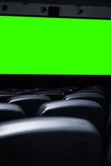 Butacas de cine/teatro con pantalla de chroma