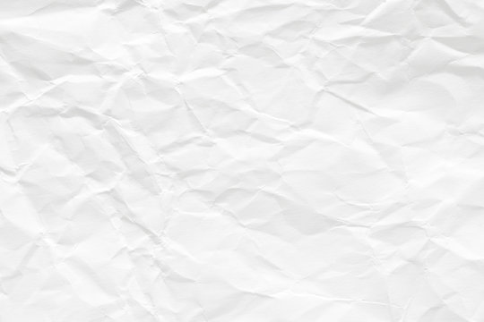 Texture of white paper. Wrinkled surface, it is like an old one.