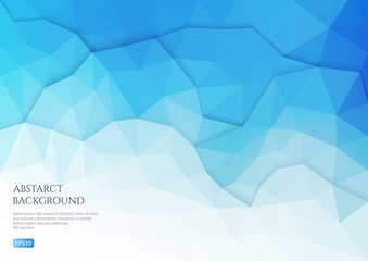 Abstract background in the polygonal style. Layers of geometric shapes.