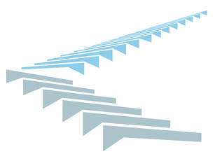 Stair in sky is a symbol of growth and development