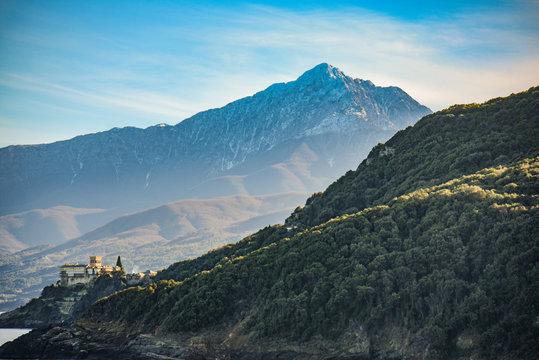 Sacred mountain Athos