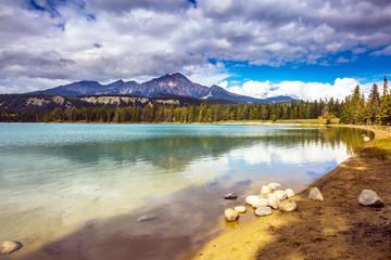 Pretty round lake