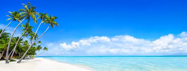 Strand Panorama als Hintergrund für den Urlaub