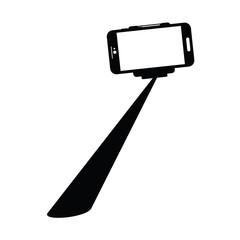 Selfie stcik with cellphone