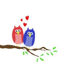 Aşık baykuşlar çizimi