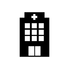 Hospital icon cross building isolated human medical view. Trendy Flat vector style for graphic design, logo, Web site, social media, UI, mobile upp, EPS10