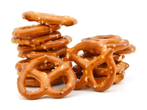 Pretzels Isolated on a White Background