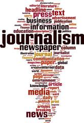 Journalism word cloud concept