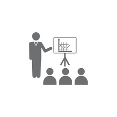 businessman presentation diagram icon. Simple element illustration. Business icons universal for web and mobile