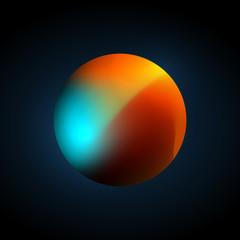 Planet Color Mesh Vector Illustration