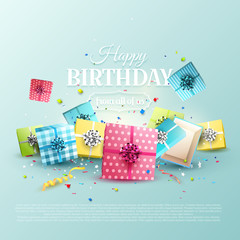Birthday gifts template