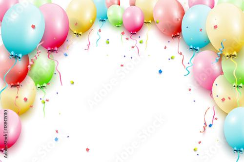 Birthday Balloons Template Stockfotos Und Lizenzfreie Vektoren Auf